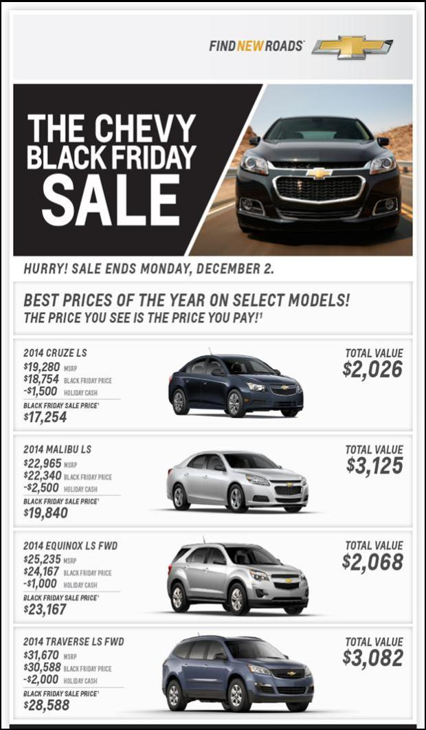 HUGE Savings @ The Chevy Black Friday Event!