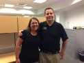 Employees Angela Shafer and Garrie Cagnie.